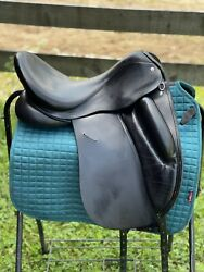 Custom Wolfgang Solo 17.5 In Adjustable Tree Euc 16 In Flap Dressage Saddle
