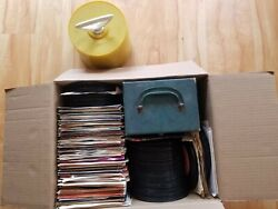 Lot Of 2 Vintage 45rpm Record Cases With 400 Records