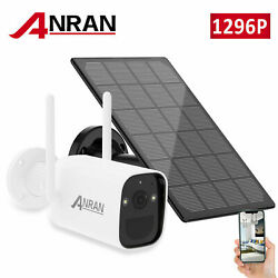 3mp Home Wifi Security Camera Wireless Outdoor Solar Battery Powered Waterproof