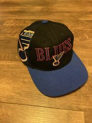 St. Louis Blues Sports Specialties Big Logo Spell Out Vtg Snapback Hat