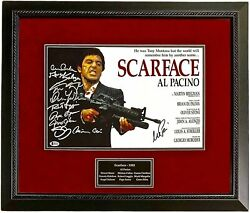 Al Pacino Autographed Signed Scarface 11x17 Cast Photo Poster Bas Beckett Framed