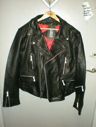 Straight To Hell Leather Brand New Tags Defector Jacket 48