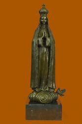 Mary Immaculate Sacred Heart Of Jesus Bronze Raw Brass Crown Blessed Mother Sale