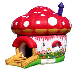 15x15x15 Commercial Inflatable Smurfs Mushrooms Bounce House Combo Water Slide