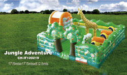 20x20x10 Commercial Inflatable Jungle Water Slide Bounce House Course Combo