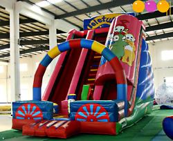 25x15x20 Commercial Inflatable Teletubby Water Slide Bounce House Castle Course