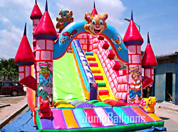 25x15x20 Commercial Inflatable Water Slide Castle Bounce House Obstacle Course