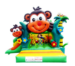25x25x20 Commercial Inflatable Monkey Zoo 5in1 Combo Bounce House Water Slide