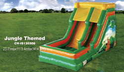 25x12x15 Commercial Inflatable Junglewater Slide Bounce House Course Combo