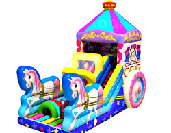 30x12x15 Commercial Inflatable Princess Carriage Bounce House Water Slide Castle