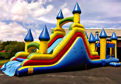40x12x15 Commercial Inflatable Castle Obstacle Course Bounce House Water Slide