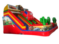 35x20x20 Commercial Inflatable Race Car Water Slide Bounce House Boys Combo Pvc