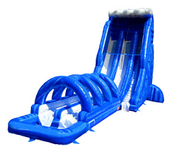 40x12x22 Commercial Inflatable Water Slide Bounce House Obstacle Course Combo