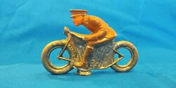 Vintage Antique Barclay Manoil Lead Toy Motorcycle Rider Soldier Cop