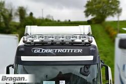 To Fit Scania New Gen Rands 17+ Normal Roof Bar Black+led+jumbo Led Spots+beacon