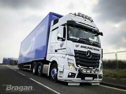 To Fit 19+ Mercedes Actros Mp5 Bigspace Roof Bar+leds+led Spots X4+beacons X2