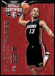 2014-15 Totally Certified Platinum Red Heat Basketball Card 161 Shabazz Napier