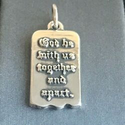 James Avery Sterling Silver God Be With Us Together And Apart Charm