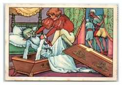 Hans Throws Animated Corpse Back In Coffin Echte Wagner German Trade Card Vt31a