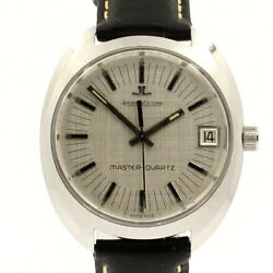 Jaeger Le Coultre Vintage Master Quartz Stainless Steel 38mm Menand039s Watch