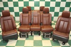 14' Expedition King Ranch Brown Dual Power Heat Cool 2nd 3rd Row Seats Screens