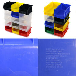 Lot Of 129 Akrobins Assorted Plastic Stackable Bins 30210/30220/30230/30240