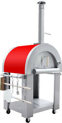Outdoor Stainless Artisan Wood Fired Charcoal Pizza Bread Oven Bbq Grill Red