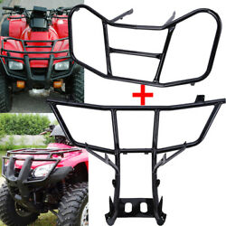 Front Bumper Guard And Front Carrier Rack For Honda Recon Trx 250 Trx250 2007-2016