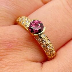 Ruby And Diamond Dress Ring 0.90ct Round Ruby In 18ct Yellow Gold Rbc Diamonds