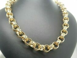 Ladies 9ct Yellow Gold Belcher Chain With Extension 55cm 60g Preloved