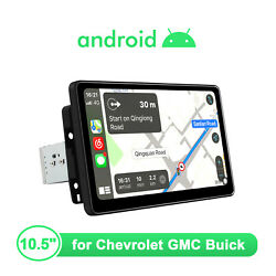 10.5 Android 10 1din 4+64g Ips Screen Navi Gps Dsp Wifi For Chevrolet Gmc Buick