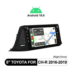 For Toyota Ch-r 8 Android 10 1din Car Radio Ips Screen Navi Gps Dsp 4+64g Wifi