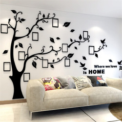 3D Tree Wall Stickers Diy Photo Frame Tree Wall Decal Family Photo Frame Stick