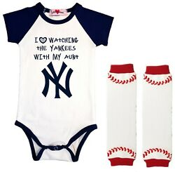 New York Yankees Infant Bodysuit Love Watching With My Aunt