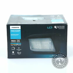 Open Box Probritee 50w Outdoor Integrated Led Wall Light In White - 6800 Lumens