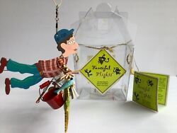 New Silvestri Fanciful Flights Fisherman Mobile Ornament With Box Vintage 2000