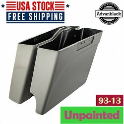 Advanblack 2 Into 1 Unpainted Stretched Saddlebags Bottoms For Harley 1993-2013
