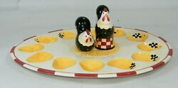 Dan Dipaolo Certified International Rise And Shine Deviled Egg Plate Set