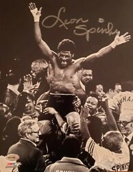 Signed 8x10 Photo Leon Spinks 1978
