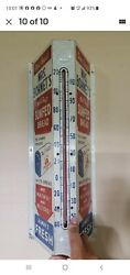 Old Super Rare Mel-o-toast Sunfed Bread Flange Advertising Thermometer Sign Cafe