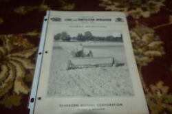 Ford Tractor 20-5 Lime And Fertilizer Spreader Assembly Manual Base