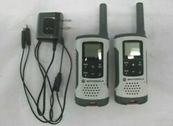 Motorola T260 Talkabout 2-way Radios White, With Charger- Lot Of 2 Two