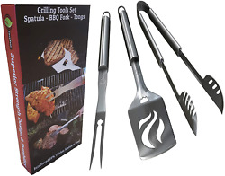 Heavy Duty Barbecue Grill Tools Set Thicker Stainless Steel Durable Accessories
