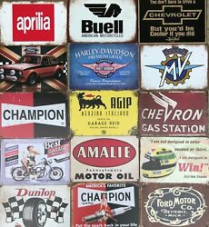 Retro Vintage Metal Wall Signs All Things Cars And Racing - Vehicles
