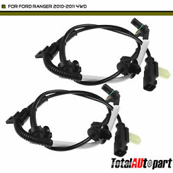 2x Abs Wheel Speed Sensor For Ford Ranger 10-11 2.3l 4.0l Frontleftandright 4wd
