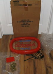 Vtg 1970and039s Schaefer Beer Welcome People Bar Arc Light Sign 2028 Advertising Box
