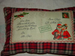 Christmas Five Cent Stamp Special Delivery Pillow Santa Claus The North Pole