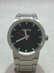 Secondhand Nixon Quartz Watch/analog/stainless Steel/ Black /silver/the Cannon/