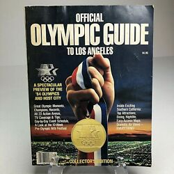 1984 Official Olympic Guide Los Angeles Collectors Edition Records Champion Win