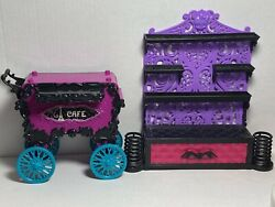 Monster High Furniture Color Me Creepy Wall Shelf Create A Monster And Cafe Cart